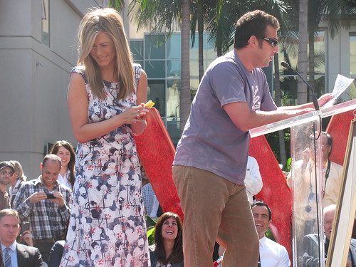jennifer aniston & adam sandler by gumypoppa