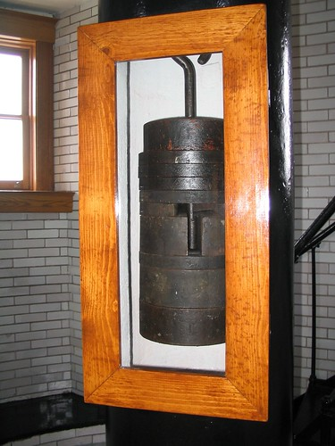 From the Archives:  The Clockworks Counterweight at Split Rock Lighthouse