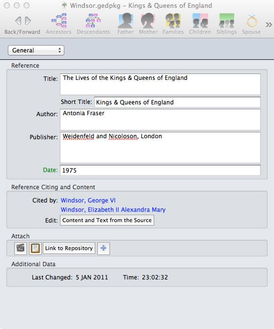 GEDitCOM II Sources Information