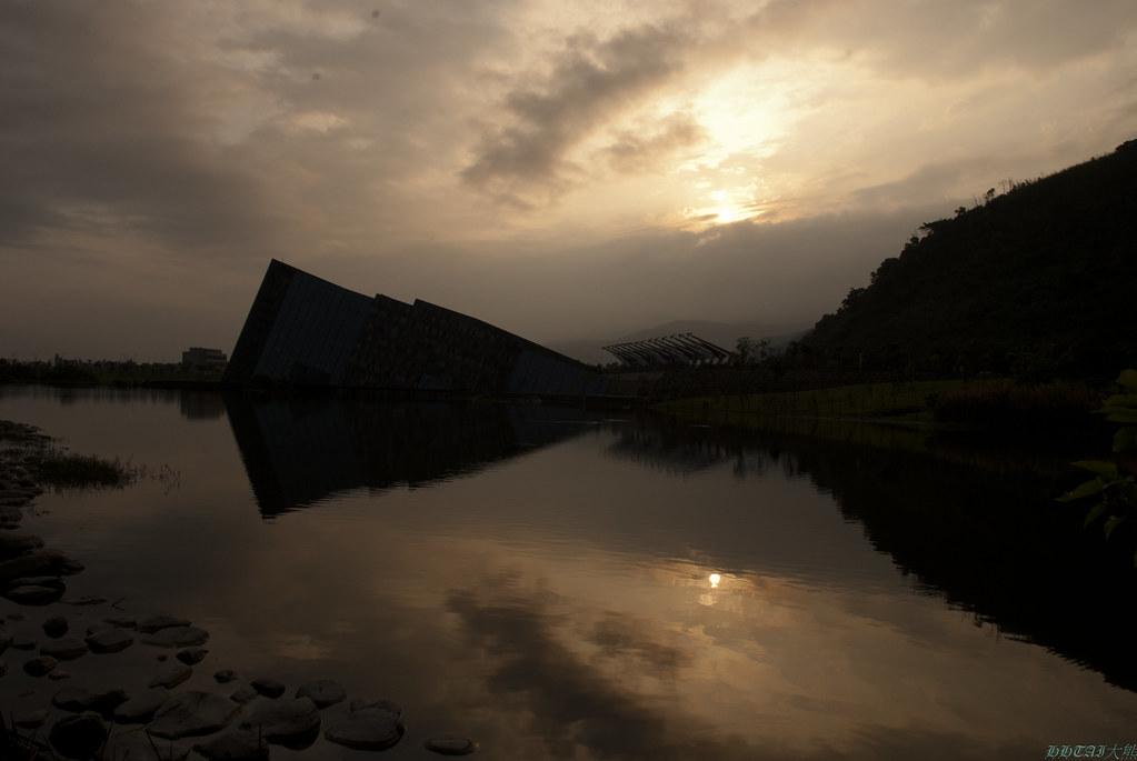 蘭陽博物館,烏石港黃昏 (四張貼圖練習)