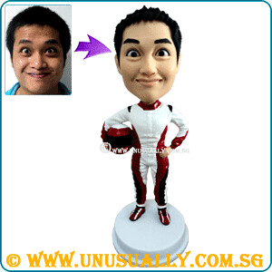 Custom 3D Racing Attire Male Figurine - @www.unusually.com.sg