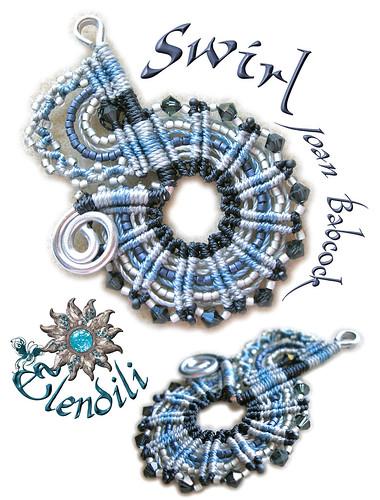 Colgante Swirl macramé by **Elendili**
