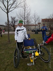 Foto: Michaela Ebert mit Moonbuggy