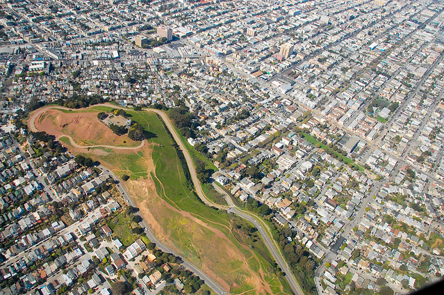 Above Bernal Heights