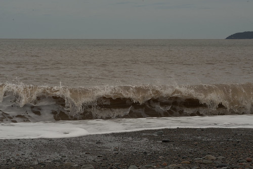 Waves Along Saints' Rest Beach, Saint John