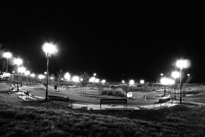 media noche en el parque
