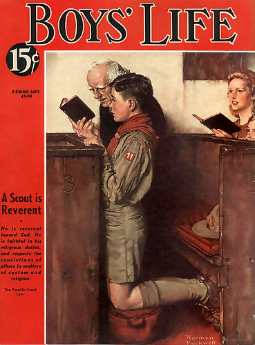 1940 ... 'A Scout is Reverent'- Norman Rockwell by x-ray delta one