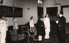 إلقاء خطاب قبل تقديم أوراق الإعتماد - كراتشي - 1 أيار 1950