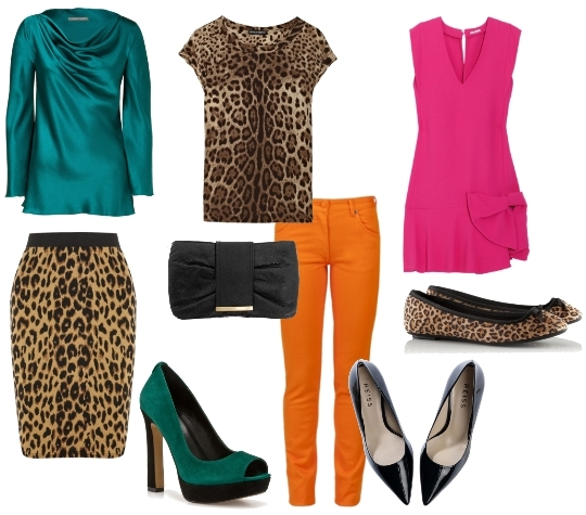 animal print with bright colors