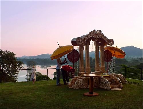 wedding panorama lake mountains water sunrise reflections dawn fuji tank buddhist finepix vista srilanka kandalama dambulla weddingpreparations ©allrightsreserved poruwa heritancekandalama jo92photos hs20exr