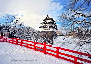 Hirosaki Castle In Winter. (Hirosaki Japan). © Glenn Waters.