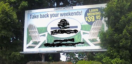 lawn care marketing billboard