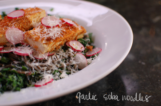 garlic soba noodles