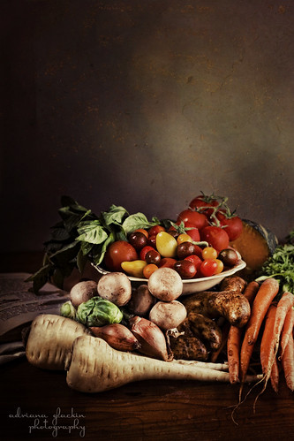 still life with vegetable (portrait)