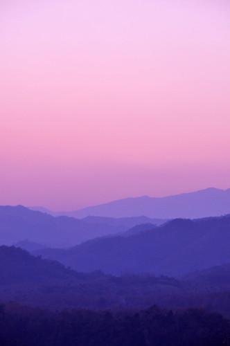 travel sunset mountains landscape twilight southeastasia violet shades hills laos luangprabang phusi laopdr nikond90 pruplehaze colingrubbs