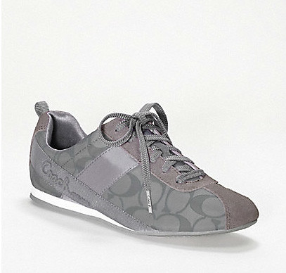 silver coach sneakers