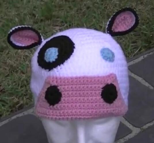 Crochet Pattern Cow Hat : Moo Cow Crochet Hat Tutorial (2 videos) Flickr - Photo ...