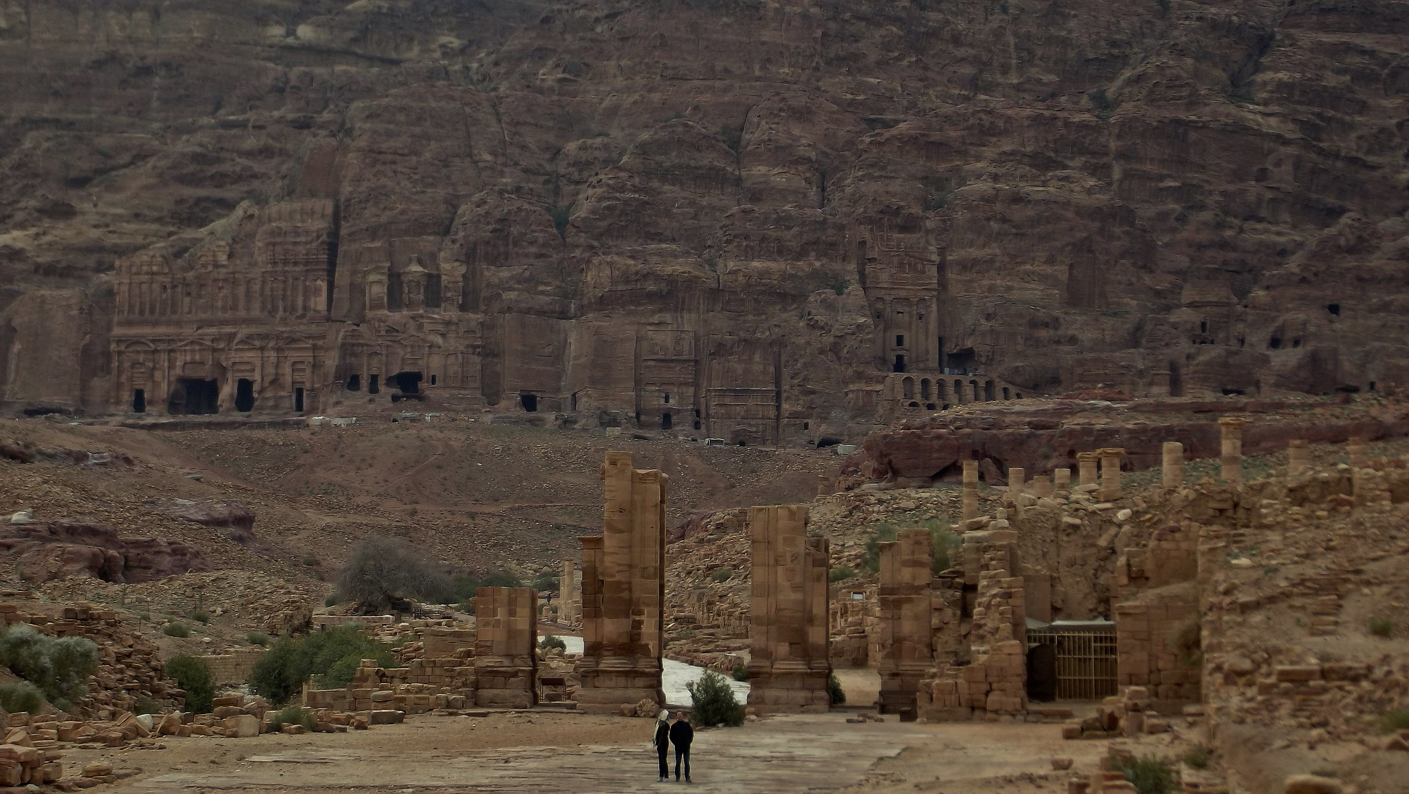 The Temenos Gate and the Royal Tombs at Petra, Jordan - March 2012