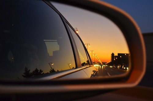 sunset window car view baku azerbaijan through avenue heydar aliev
