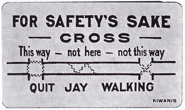 Boy Scout Cards Kiwanis Club Hartford Anti JayWalking 07.02.1921 National Safety News