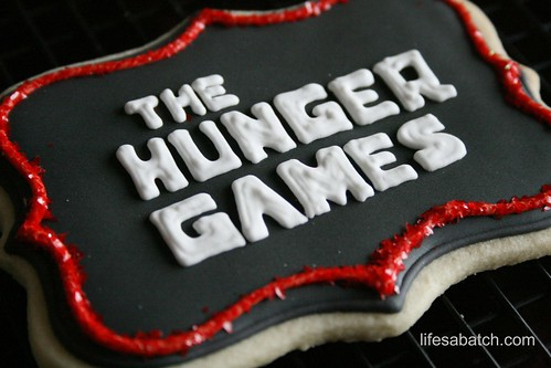 The Hunger Games Logo Cookie.