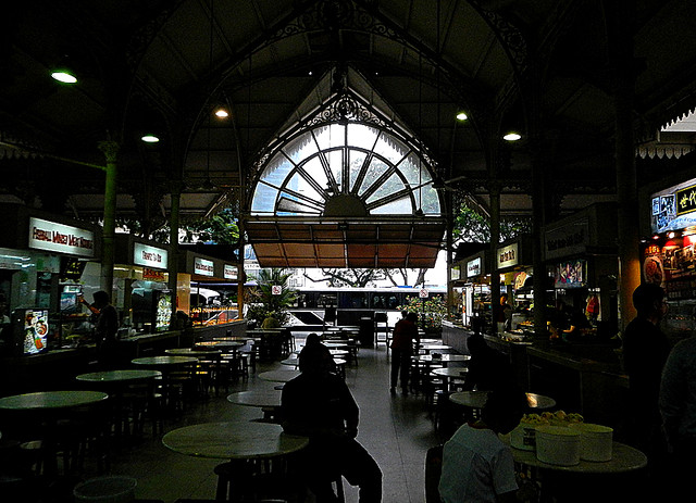 Singapore hawker food centre