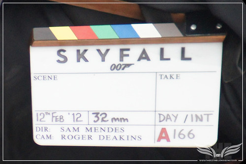The Establishing Shot: Skyfall Vauxhall Bridge Location Shoot - Skyfall Clapper Board by Craig Grobler