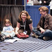 A little babysitting time on the floor in the exhibitor hall by seldman