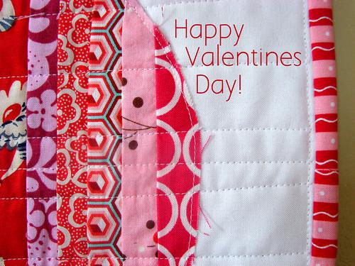 Valentines Mini quilt detail