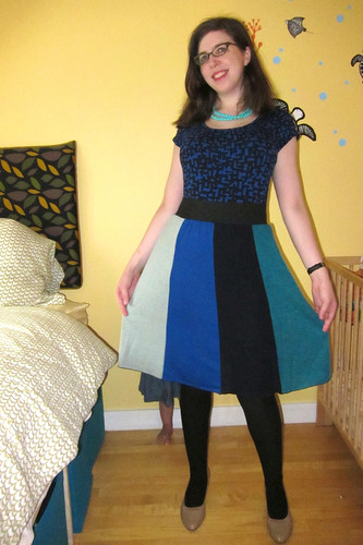Sew Grateful Crazy for Colorblocking Skirt