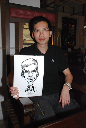 caricature live sketching for emc NUS - 21