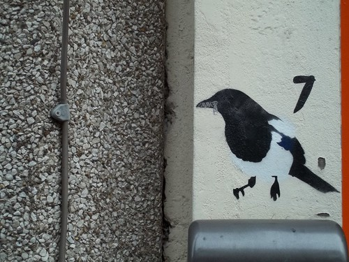 Magpie Number 7, painted on a wall in Division Street, Sheffield, by John Dowswell