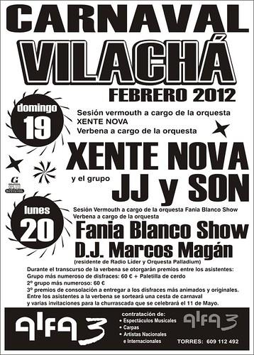 Monfero 2012 - Carnaval en Vilachá - cartel