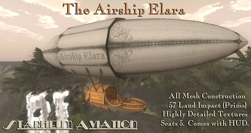 The Airship Elara by ElaraGloriana Scrabblebat