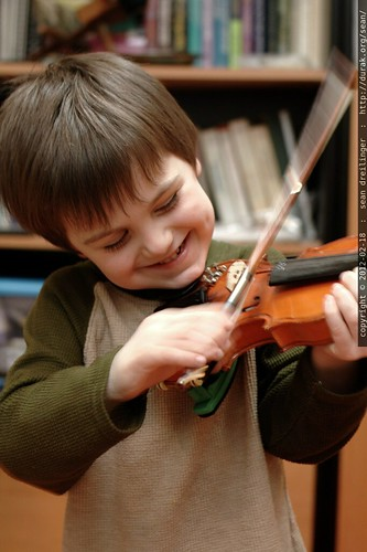sequoia practicing violin    MG 8794