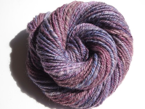 FCKFiber Club Famous Couples Spring 2012-March-Sid & Nancy (this is Sid)-1.2oz-Polwarth-hand carded, chain plied-50yds-1