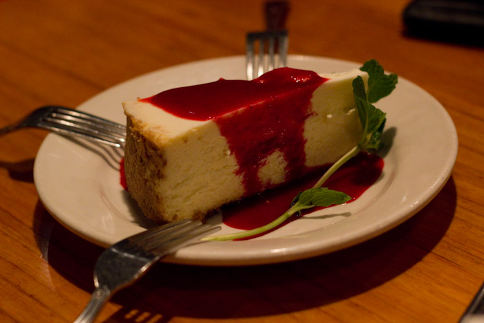 Rasberry Cheesecake.