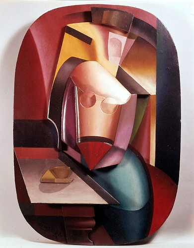 Archipenko, Alexander (1881-1964) - 1915 In the Cafe - Woman with a Cup (Hirshhorn Museum and Sculpture Garden, Washington DC)- by RasMarley