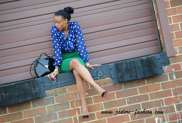 Green & Polka Dots--Jadore-fashion.com