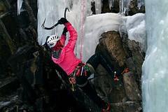 Ledolezení přes ledové rampouchy