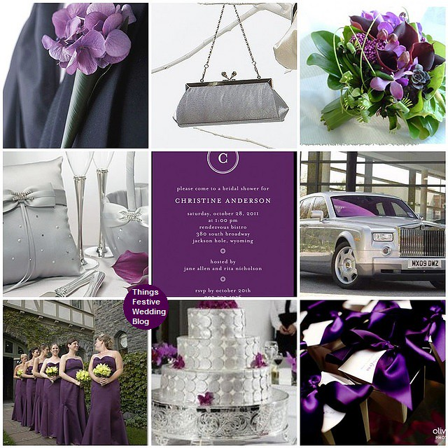 Platinum is a stunning color which beautifully complements aubergine