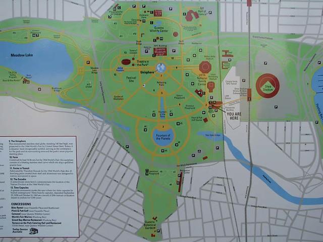Flushing Meadows Corona Park Map Flickr Photo Sharing