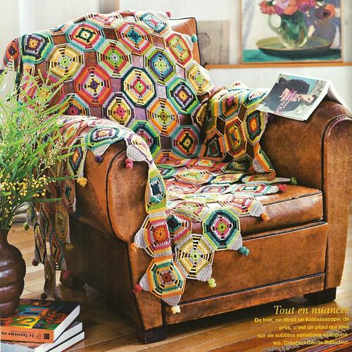 plaid au crochet granny square bohemian oasis blanket drops delight mod le gratuit. Black Bedroom Furniture Sets. Home Design Ideas