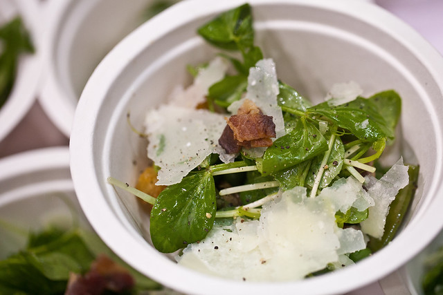 Spacca Napoli - pea, bacon and pecorino salad | Flickr - Photo Sharing ...