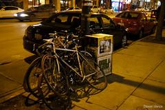 Bike parking at bingo night by Steven Vance