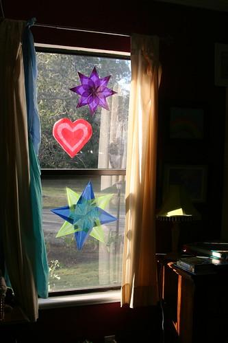 Window Stars in Boys' Room