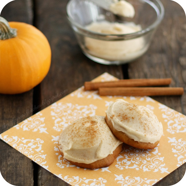 Malted Pumpkin Cookies with Browned Butter Icing