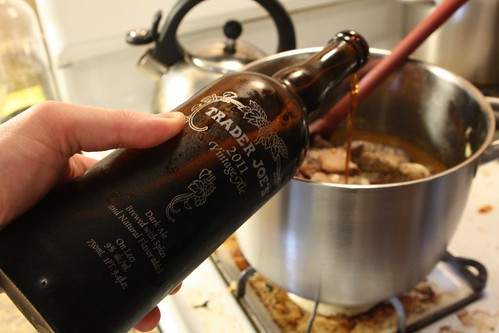 Cassoulet with Dark Belgian Strong Ale (Trader Joe's 2011 Vintage Ale)