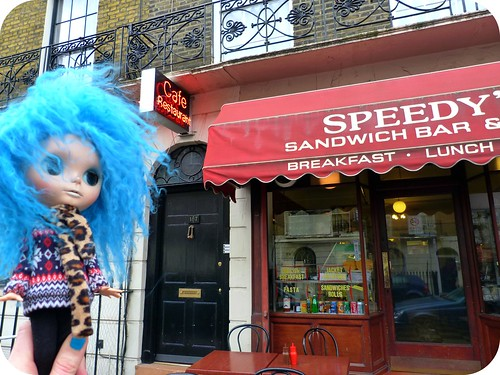 Me & Liz (& Opal here) went to Speedy's cafe - you will know it if you watch Sherlock ;)