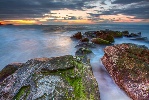sunset newyork water rocks longisland hdr longislandsound beautifulearth longbeachtownpark